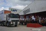 Jokowi lepas keberangkatan ekspor rayon APR dari Pelalawan ke Turki