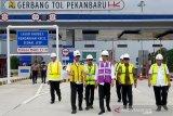 Presiden Joko Widodo resmikan Jalan Tol Pekanbaru-Dumai