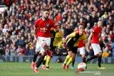 Bruno Fernandes cetak gol perdana ketika membantu MU lumat Watford 3-0