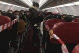 Pesawat khusus misi evakuasi Wuhan kedua telah tiba