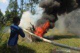 Usai dilatih Tim Fire Fighter PT RAPP, ratusan mahasiswa Unilak daftar jadi relawan karhutla