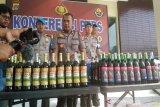 Polres Kulon Progo sita ratusan botol minuman keras