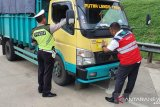 Hutama Karya razia truk besar yang melintas di ruas tol Lampung
