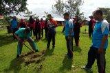 Polsek Unurumguay Jayapura lakukan program penghijauan
