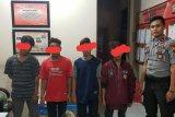 Terekam CCTV, empat penodong di Inhil dibekuk polisi, Tiga di antaranya anak-anak