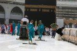 Masjidil Haram dan Masjid Nabawi kembali dibuka usai sterilisasi