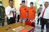 Polisi musnahkan sabu dan pil ekstasi hasil tangkapan dari WN Malaysia
