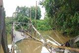 Jembatan Tu'un Pararawen mulai diperbaiki