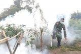 Yonif 713 Gorontalo fogging cegah DBD di pos pengamanan perbatasan Papua