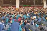 Mahasiswa Lampung gelar aksi tolak RUU Omnibus Law