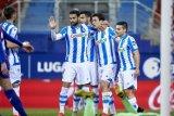 Liga Spanyol, Sociedad sodok empat besar setelah menang di Eibar