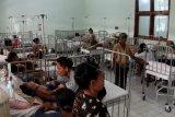 Suasana di salah satu ruangan bangsal anak khusus pasien terserang demam berdarah dengue (DBD) di RSUD TC Hillers Maumere, Kabupaten Sikka, NTT,Rabu (11/3/2020). Dinas Kesehatan NTT melaporkan hingga Rabu (11/3) .  Jumlah kasus DBD di NTT sudah mencapai 3.109 kasus dengan jumlah korban meninggal mencapai 37 orang yang tersebar di 22 kabupaten/kota se-NTT. Jumlah kasus tertinggi di  Kabupaten Sikka mencapai 1.216 kasus dengan korban meninggal 14 orang. ANTARA FOTO/Kornelis Kaha/nym.