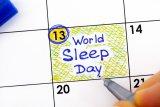 Hari Tidur Sedunia jatuh pada 13 Maret 2020