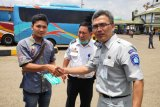Jasa Raharja Lampung lakukan pemeriksaan kesehatan gratis di Terminal Rajabasa antisipasi COVID-19