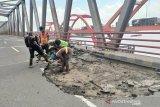 Jembatan Musi II Palembang ditutup selama dua pekan akibat baut lepas