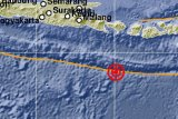 Gempa di selatan Bali rangkaian gempa susulan