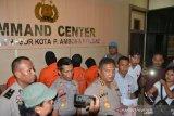 Polresta Ambon tangkap enam tersangka kasus Narkoba