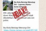 Polisi sebut kabar Jakarta segera