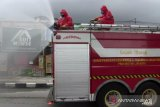 Jalan protokol di Jakarta Utara disemprot disinfektan