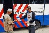 Pelayanan SIM keliling Jayapura lengkapi dengan cairan antiseptik