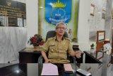 Satgas COVID-19 Kota Metro semprot disinfektan bus AKAP