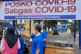 UMP bagikan cairan antiseptik dan dirikan Posko COVID-19 (VIDEO)