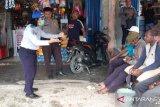 Polisi - Dishub edukasi warga Depapre cegah COVID-19