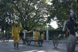 Korem Pamungkas-ACT DIY semprot disinfektan Titik Nol Yogyakarta cegah COVID-19
