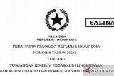 Ini tunjangan kinerja pegawai MA yang diatur dalam  Perpres 8/2020