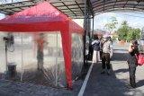 Masuk ke Mapolresta Palangka Raya wajib disemprot desinfektan