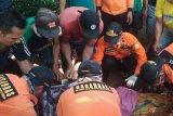 Jenazah penderes nira kelapa tenggelam di Sungai Tenggulun dievakuasi