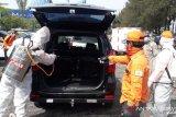 Semua penumpang kendaraan hendak masuk Sukabumi wajib menjalani sterilisasi