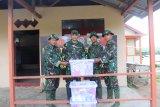 Logistik TMMD diserahkan dan Satgas TMMD ke Posko