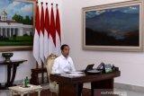 Presiden China Xi Jinping bagi pengalaman cara menghadapi COVID-19 ke Jokowi