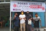 BPTP Sulteng donasikan hand sanitizer ke jurnalis peliput COVID-19