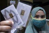 Harga emas Antam Jumat pagi naik Rp5.000 per gram