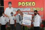 Bank Jateng Pemalang berikan bantuan APD dan hand sanitizer