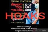 101 kasus hoaks COVID-19 di medsos terungkap