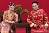 Aturan karantina dicabut, pernikahan kembali berlanjut di Kota Wuhan