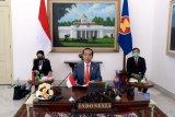 Ikuti KTT ASEAN, Presiden tekankan pentingnya sinergi tangani corona