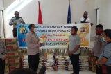 Kapolresta Jayapura Kota berikan bantuan sembako kepada ormas pemuda