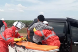 PT Hutama Karya simulasi penanganan COVID-19 di Tol Trans-Sumatera