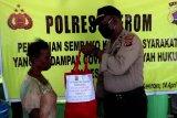 Polres-Bhayangkari Keerom bagikan sembako untuk warga Distrik Arso