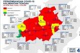 Kasus positif COVID-19 Kalteng melonjak dan zona merah terus meluas