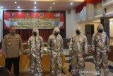 Puluhan Personel Polda Kalsel ikuti pelatihan penanganan jenazah COVID-19