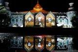 Masjid Al Markaz sepi pada malah pertama shalat taraweh