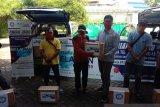 SP BPJAMSOSTEK Cabang Makassar bagikan bahan pokok
