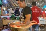Hari pertama puasa di Palembang, harga ikan bervariasi Rp18.000 hingga Rp22.000/Kg
