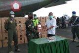Distribusi alkes dan APD ke Malut gunakan pesawat Hercules TNI-AU