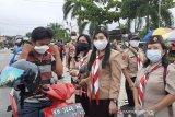 Gerakan Pramuka Gumas kampanyekan penggunaan masker kain